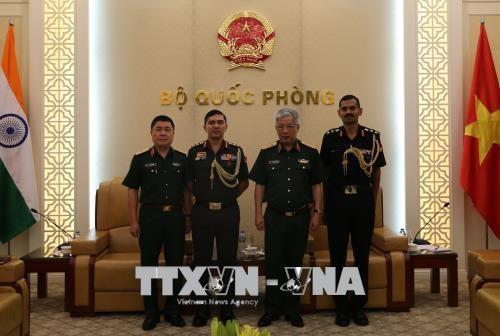 越南国防部副部长阮志咏会见印度和以色列驻越武官 hinh anh 1
