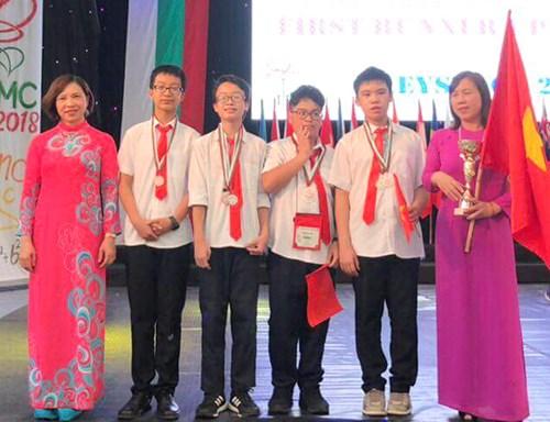 越南学生在国际数学竞赛获5枚金牌 hinh anh 1