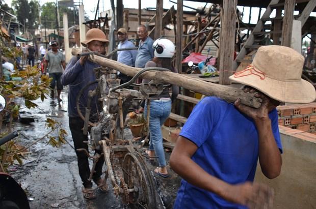 柬埔寨金边发生火灾 越裔近60间房屋被烧毁 hinh anh 2