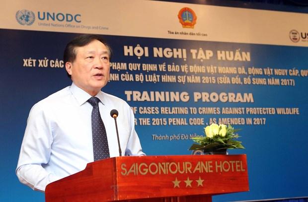 越南加大野生保护动物违法行为打击力度 hinh anh 1