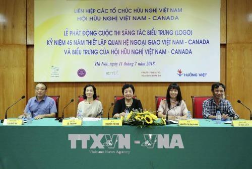 越南启动纪念越加建交45周年的标志设计大赛 hinh anh 1