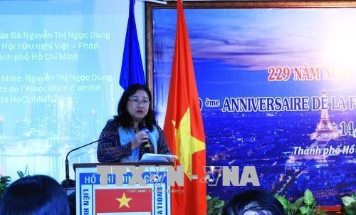 法国国庆229周年纪念典礼在胡志明市隆重举行 hinh anh 1