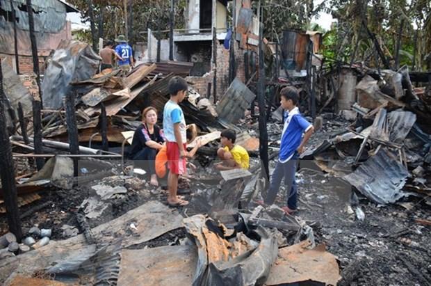 柬埔寨越侨区火灾事件:受火灾影响的越侨生活逐渐恢复正常 hinh anh 2