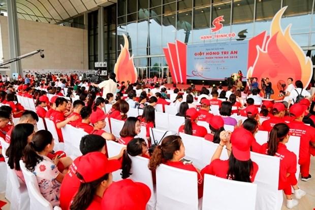 """2018年""""知恩的热血""""献血日暨红色行程出征仪式在河内举行 hinh anh 1"""