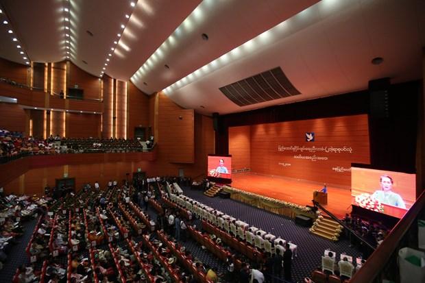 缅甸第三届21世纪彬龙会议达成14项联邦协议条款 hinh anh 1