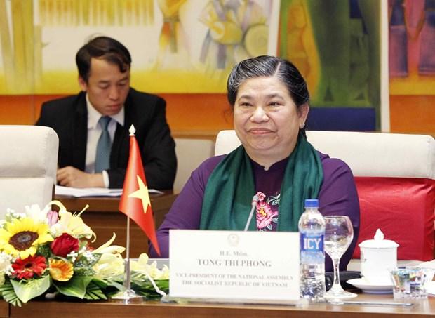 越南国会副主席丛氏放与老挝国会副主席森暖举行会谈 hinh anh 2