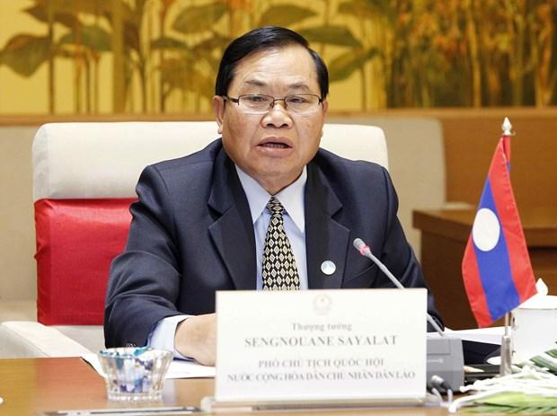 越南国会副主席丛氏放与老挝国会副主席森暖举行会谈 hinh anh 3