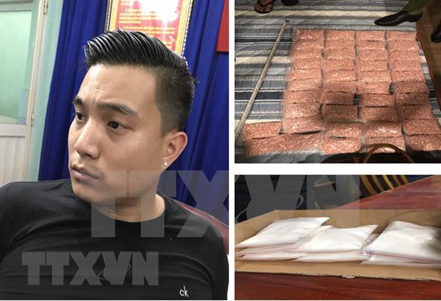 越南公安破获胡志明市非法运输毒品的犯罪团伙案件 hinh anh 1