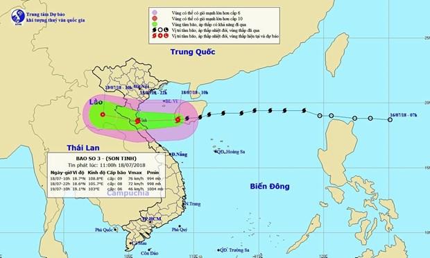全国各地主动展开第三号台风和热带低气压的防御工作 hinh anh 1