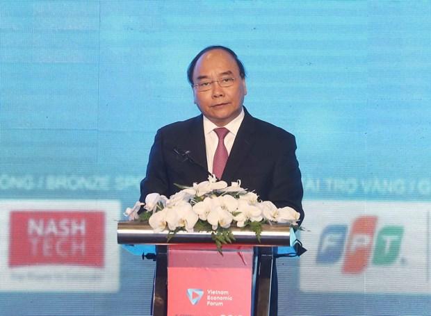 越南政府总理阮春福:需将电子政务的建设与领导人的作用相结合 hinh anh 3