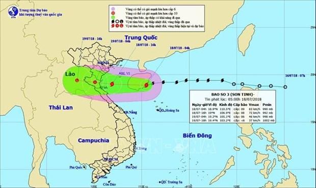 18日傍晚第三号台风将直接影响北部和中部 全力以赴做好台风防御工作 hinh anh 1