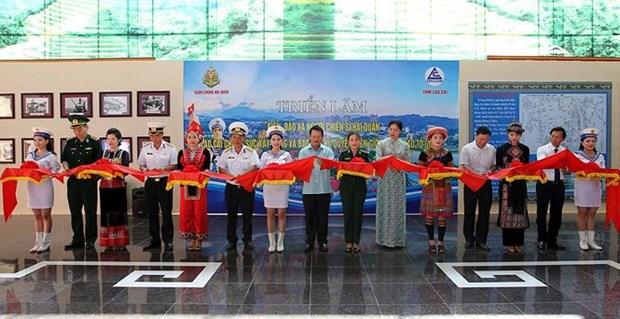 越南海洋岛屿及海军战士展览会开幕 hinh anh 1