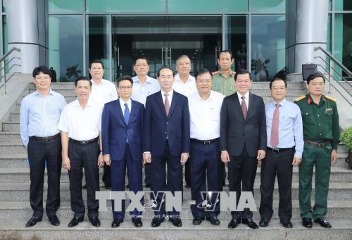 国家主席陈大光:巴地头顿省应更好地把沿海省份的潜力和优势充分发挥出来 hinh anh 1