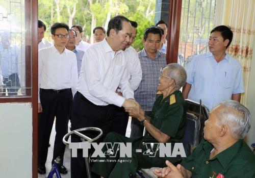 国家主席陈大光:巴地头顿省应更好地把沿海省份的潜力和优势充分发挥出来 hinh anh 2