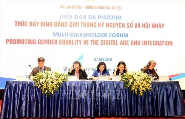 性别平等在全球一体化的数字新纪元中得到更多重视 hinh anh 1
