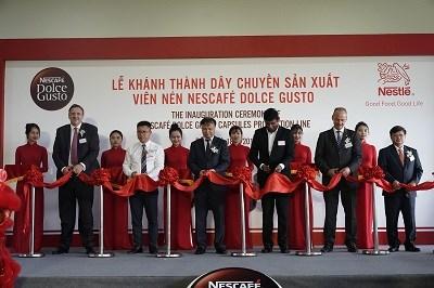 雀巢(越南)多趣酷思胶囊咖啡生产线建成投产 hinh anh 1