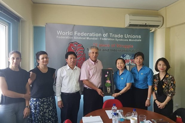 越南劳动联合会访问希腊 hinh anh 1