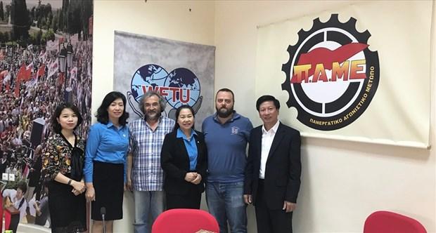越南劳动联合会访问希腊 hinh anh 2