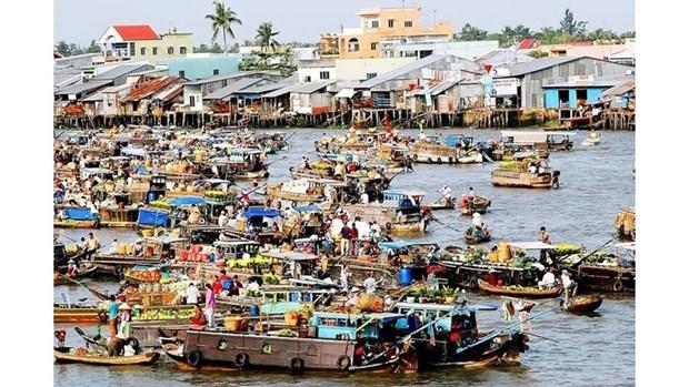 越南西部水上生活的引人入胜的景点 hinh anh 1