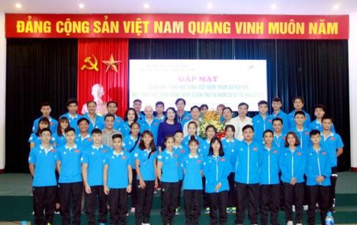 越南体育代表团参加2018年东南亚学生运动会 hinh anh 1