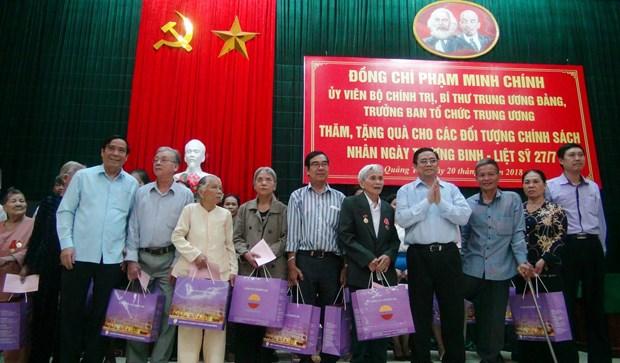 越南领导代表组团探访慰问广治和清化两省优抚家庭 hinh anh 1