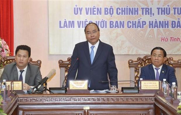 政府总理阮春福:河静省应努力实现预算自主权 hinh anh 1