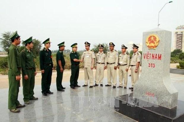 越南坚江省与柬埔寨5个省市保持良好合作关系 hinh anh 1