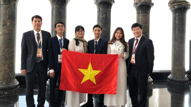 越南学生在2018年国际生物奥赛中获得3枚金牌 hinh anh 1