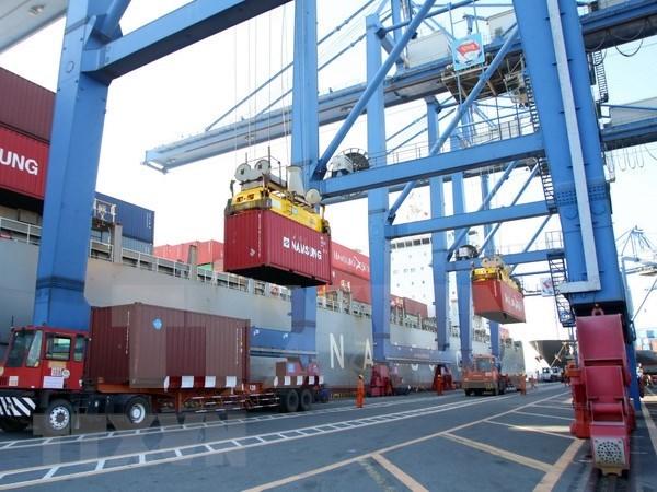 越南港口集装箱货物吞吐量猛增 hinh anh 1