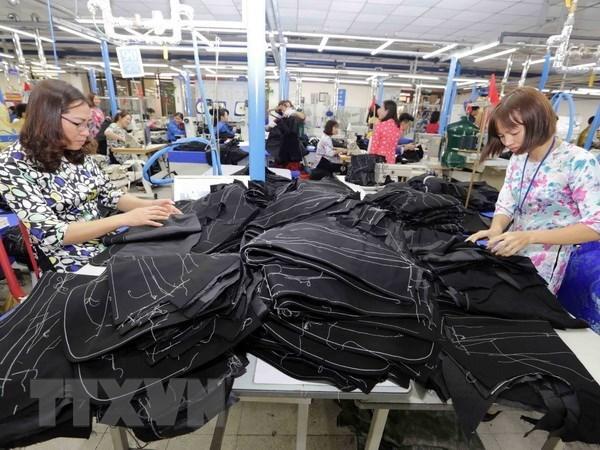 2018年上半年越南纺织品服装出口额逾134亿美元 hinh anh 2
