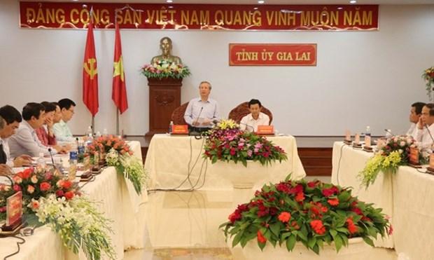 越共中央书记处常务书记陈国旺走访嘉莱省 hinh anh 1