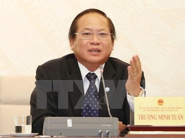 越南国家主席签发决定 暂停张明俊执行信息传媒部部长职务 hinh anh 1
