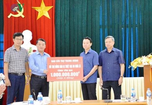 越南祖国阵线向安沛省拨出10亿越盾 用于灾后恢复重建工作 hinh anh 1