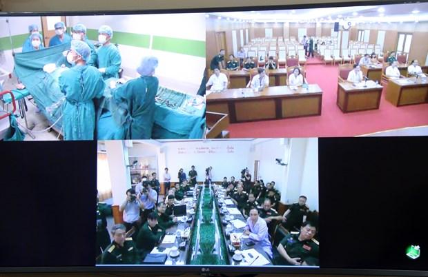 越南军队帮助老挝军队提高远程门诊医疗质量 hinh anh 1
