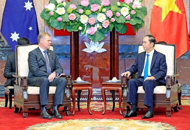 越南国家主席陈大光会见澳大利亚众议院议长托尼•史密斯 hinh anh 1