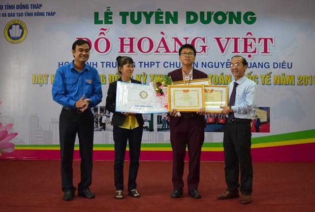 同塔省学生荣获2018年国际数学奥林匹克竞赛铜牌 hinh anh 1