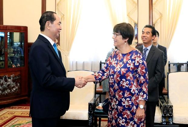陈大光会见比利时和加拿大驻越大使 hinh anh 1