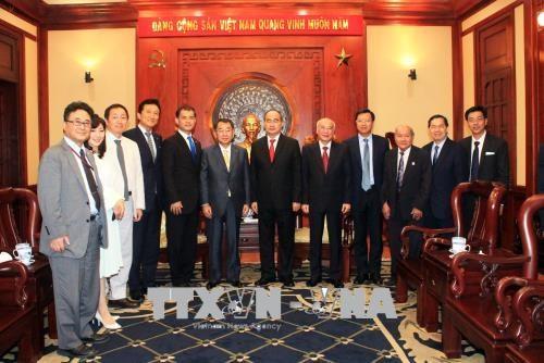胡志明市市委书记阮善仁会见日本议员代表团一行 hinh anh 2