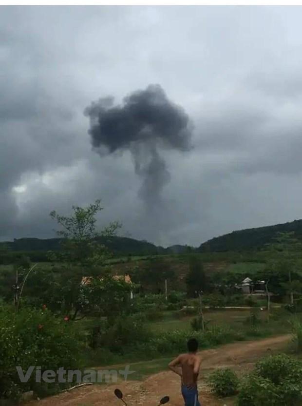 乂安省军用飞机坠毁事故:两名遇难飞行员遗体找到 hinh anh 1
