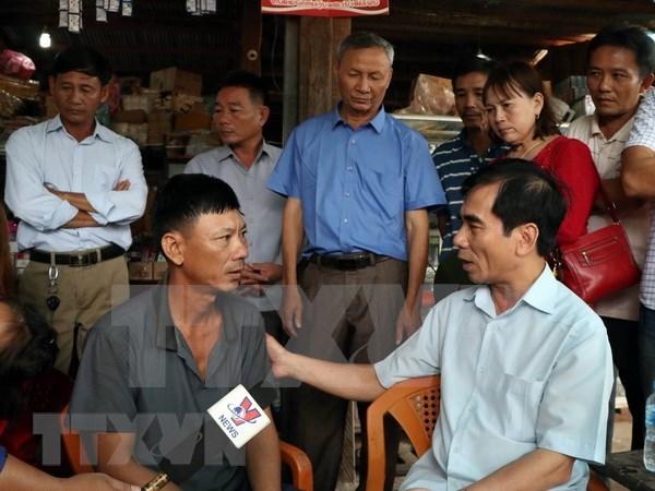越南继续向老挝一水电站大坝坍塌受灾群众提供援助 hinh anh 1