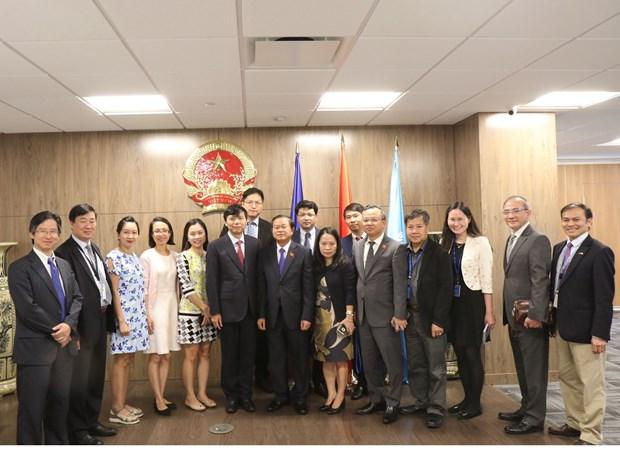 越南国会副主席杜伯巳率团对美国纽约进行工作访问 hinh anh 1