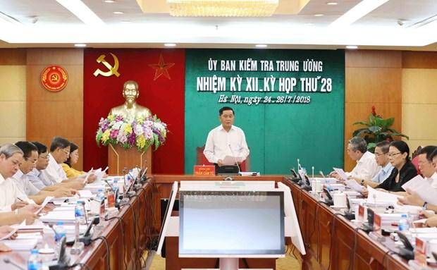 越共中央检查委员会召开第28次会议 hinh anh 1