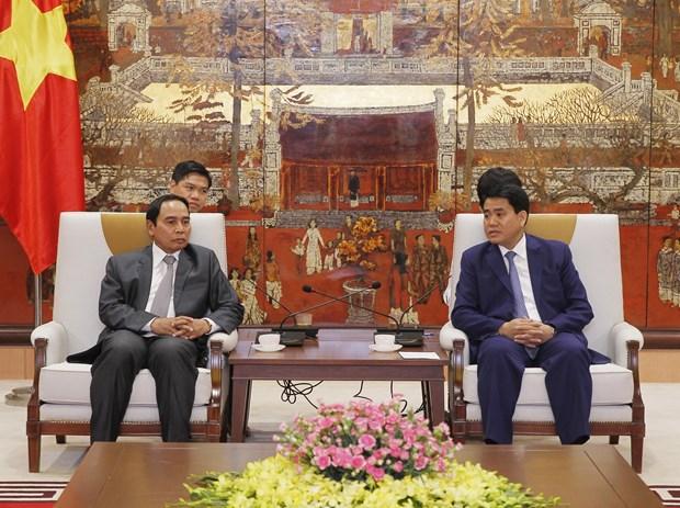 河内市与老挝就监察检查和反腐败工作进行经验交流 hinh anh 1