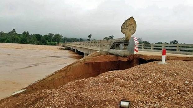 政府总理阮春福就柬埔寨遭受暴雨洪涝灾害向柬首相洪森致慰问电 hinh anh 1