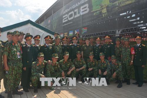 越南人民军代表团出席2018年国际军事比赛开幕式 hinh anh 2