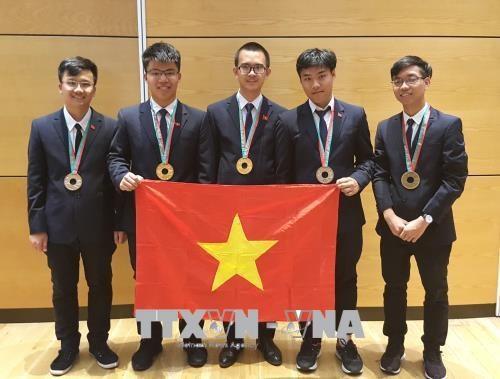 越南学生在2018年国际奥赛中取得佳绩 hinh anh 1