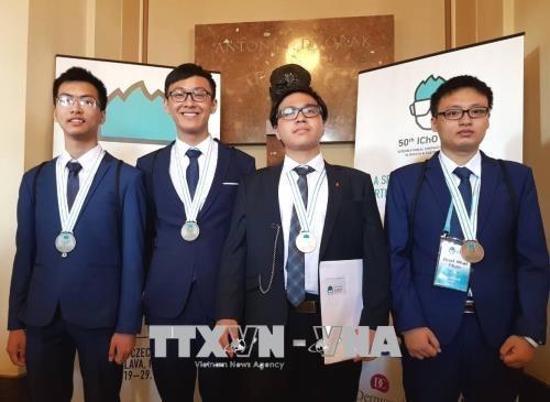越南学生在2018年国际奥赛中取得佳绩 hinh anh 2