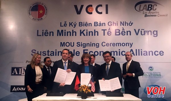 胡志明市与美国洛杉矶成立可持续经济联盟 hinh anh 1