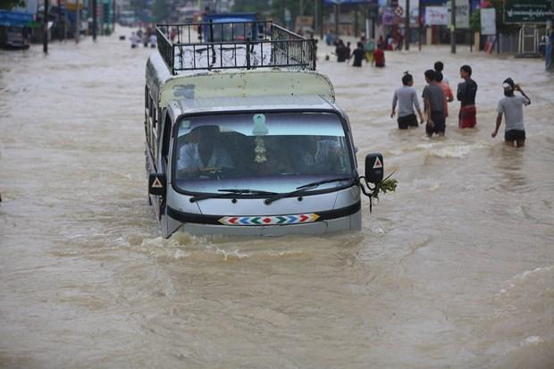 缅甸遭严重洪灾 泰国泥石流造成8人死亡 hinh anh 2
