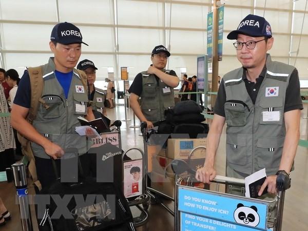 老挝水电站大坝坍塌事故:韩国救援队赶来现场 帮助灾民重建家园 hinh anh 1